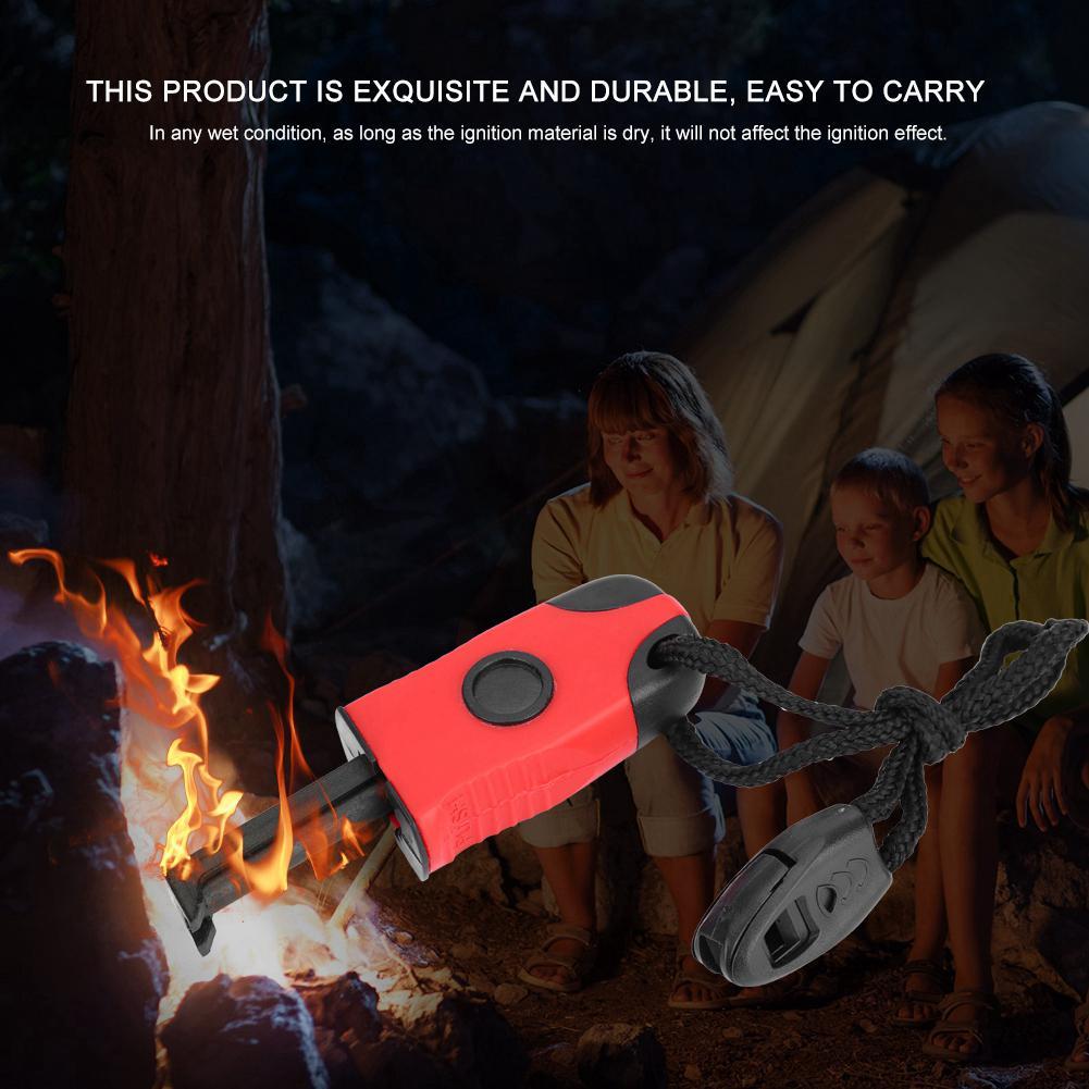 2PCS Fire Starter Emergency Magnesium Flint Stone Lighter Survival Camping Tool