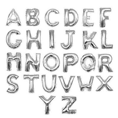 1a55ca7aad433 16 Strona Srebrne Litery Alfabetu Balony Urodziny Inch Dekoracje Dzieci  Balon Rok Ślub Foliowy