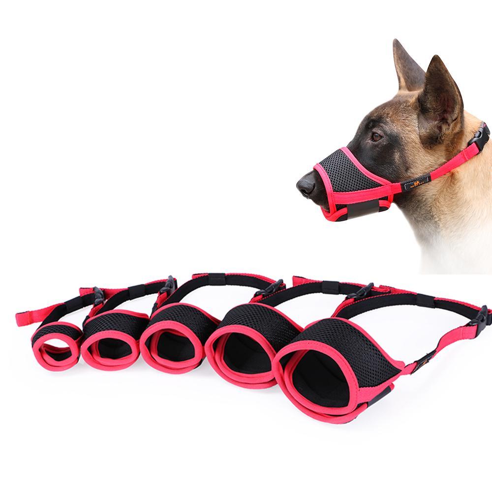 Maulkorb f/ür Hunde Anti Kauen Bei/ßen Erm/öglicht Trinken Sicherheit Maske f/ür kleine mittlere Gro/ße Hunde Mund Abdeckung