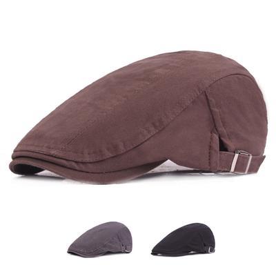 20afbdf55c106 Fashion Men s Women s Beret Cap Sun Proof Driving Golf Flat Adjustable Hat  Newsboy Caps