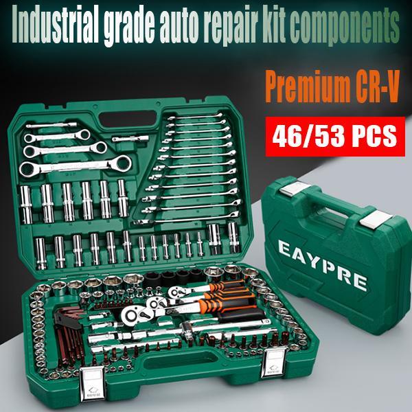 Улучшенная версия высококачественного CR-V Car Repair Tool Ratchet Оборудование Инструмент Box Box разъем ключ set – купить по низким ценам в интернет-магазине Joom