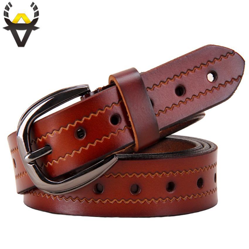 Moda cinturones de agujeros para mujeres segunda mujer vaca genuino cuero  alta calidad capa cinturón de diseñador - comprar a precios bajos en la  tienda en ... e759da40a0b5