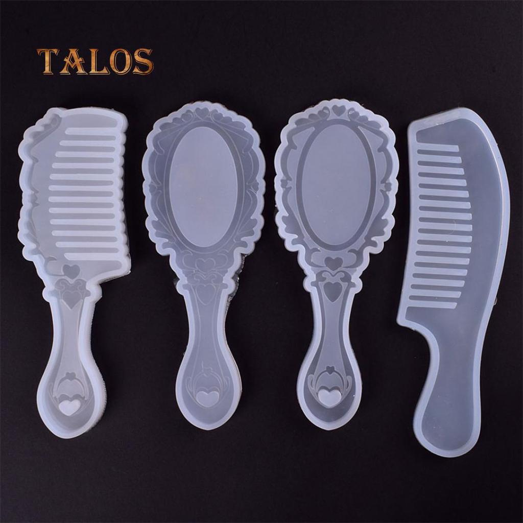 4Pcs//Set Comb Series Silicone Mold DIY Hand Craft Epoxy Resin Jewelry Making Tools Comb Silicone Mold