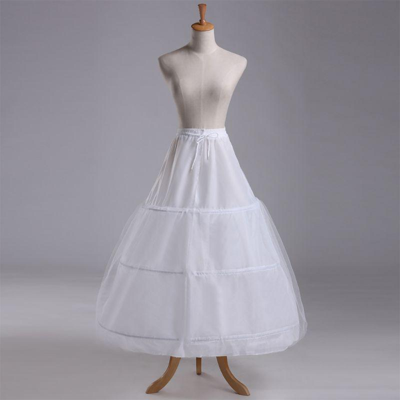 1 capa 3 aro elastizada lazo nupcial vestido enagua miriñaque ... 98997fec4180