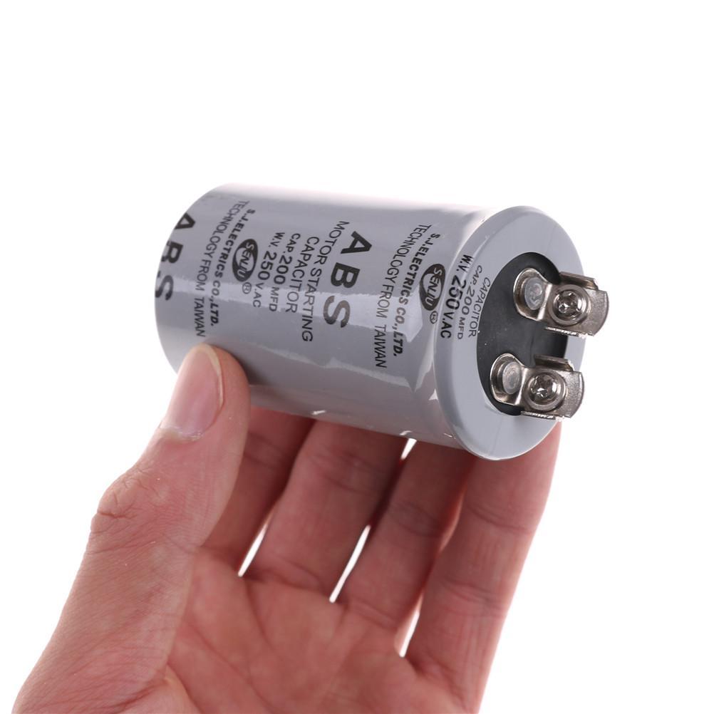 200MFD 200uF 250V AC Borne à vis du moteur Condensateur de démarrage