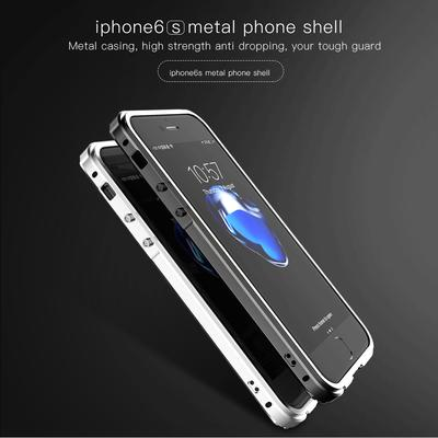 Alloy Frame Metal Waterproof Luxury Back Cover Transparent Shockproof Phone Case For Iphone 8Plus 7