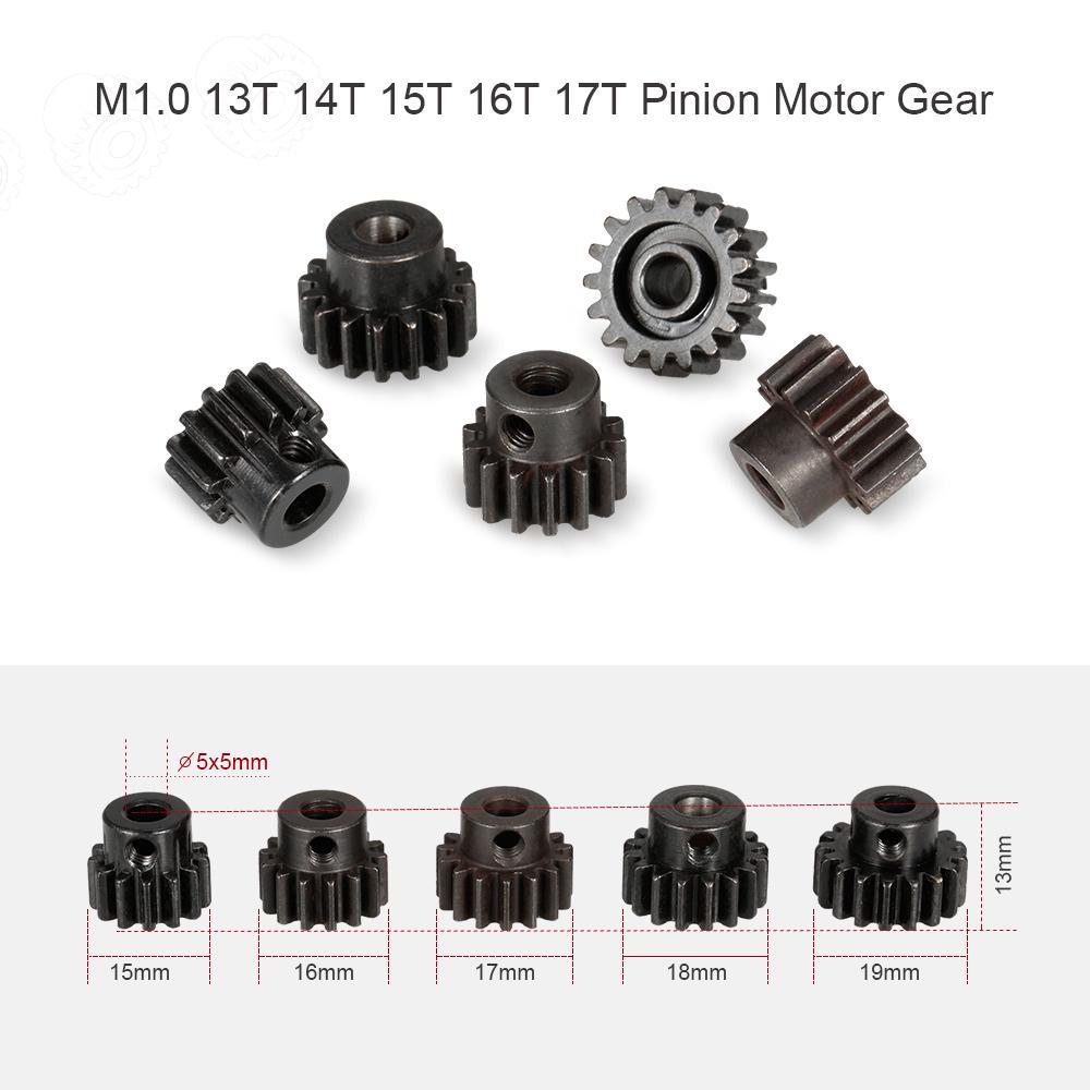 M1 5mm 11T-19T Pi/ñ/ón Engranajes de Motor Set para 1//8 RC Coche Motor Cepillado Sin Escobillas