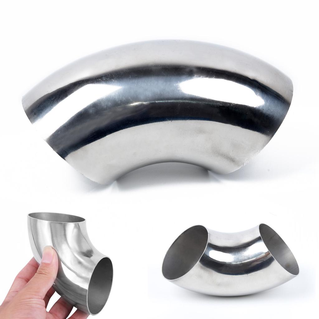 51mm Stainless-Steel Elbow Fitting 90° Pipe Tube Bend For Car Exhaust 2 Inch