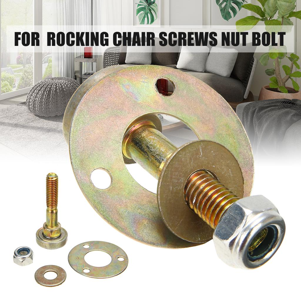 4pcs//set Rocking Chair Bearing Connecting Fitting Furniture Screws Nut Bolt