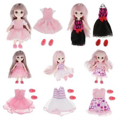 Cute Doll Plush Bear Jumpsuit Brown for 1//3 BJD Night Lolita Doll Changing