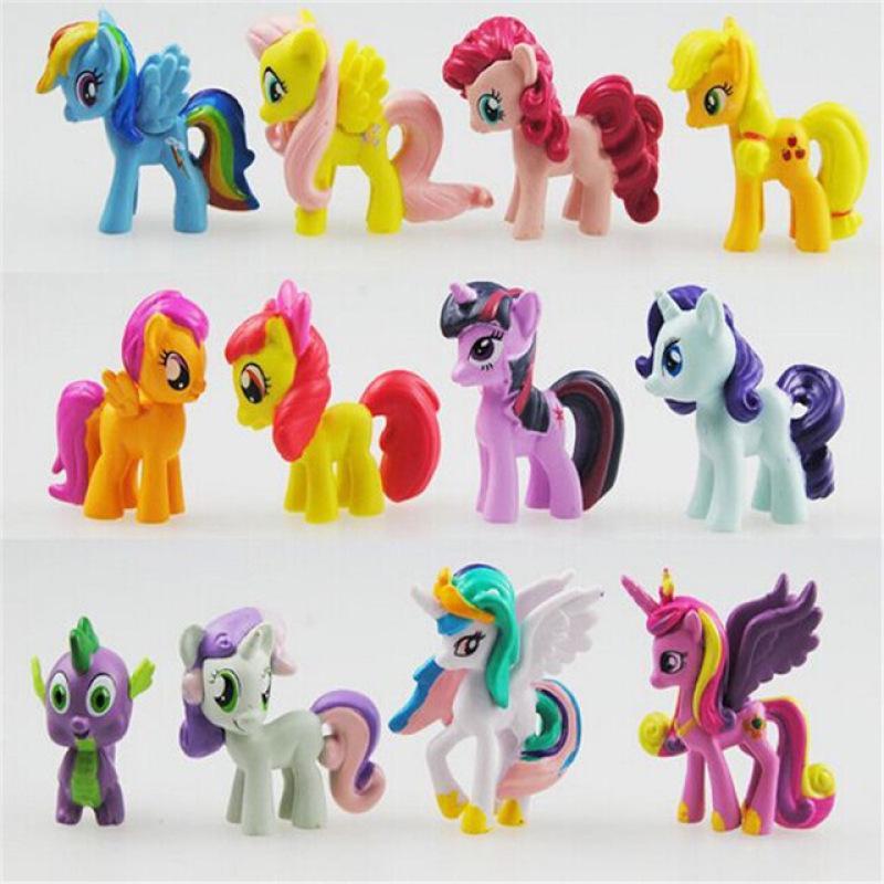 My Little Pony Horse Figures Kids Play Set Hair Styling Animal Figure Set