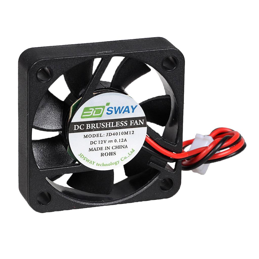 40x10mm 3D Printer Fan 12V 24V Hydraulic Bearing Blow Radial Cooling Turbo Fan