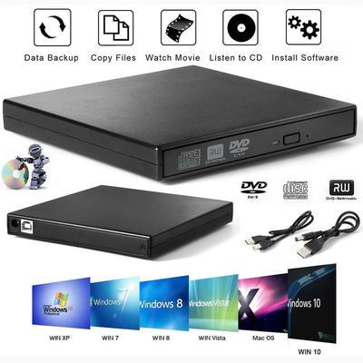 Upgrade Slim Portable USB 2 0 Ultra External DVD-RW CD-RW Burner Writer  Drive for PC MAC