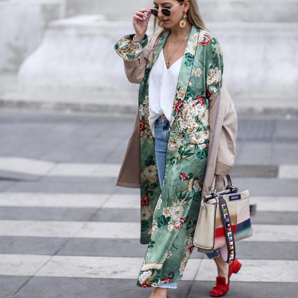 ZANZEA Women Long Sleeve Coat Jacket Kimono Sheer Swim Beach Cover Up Cardigan