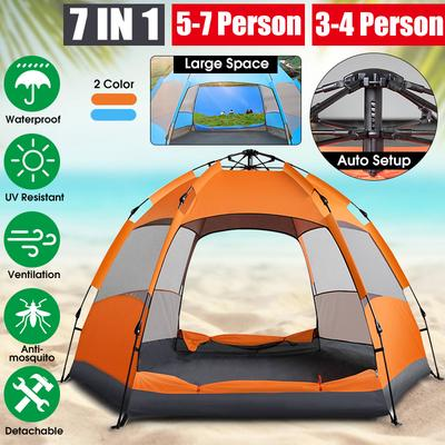 Waterproof Automatic 5-7 People Outdoor Instant Popup Tent Camping Hiking