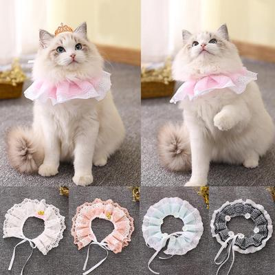 Shop For Cheap Pet Cat Headgear Cloth Material Dog Cat Funny Polka Umbrella Pattern Elastic Hair Band Hood Candy Styling Cute Fashionable Home