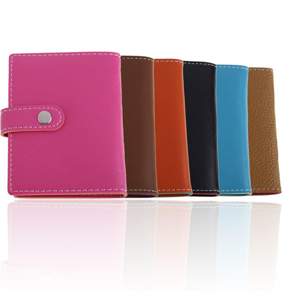 New Men/'s ID Credit Card Holders Pocket Case Purse Wallet For Cards PU Leather