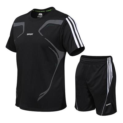 Men's Fitness Suit Quick-drying Short-Sleeved Sportswear Fashion Two-piece Tracksuit
