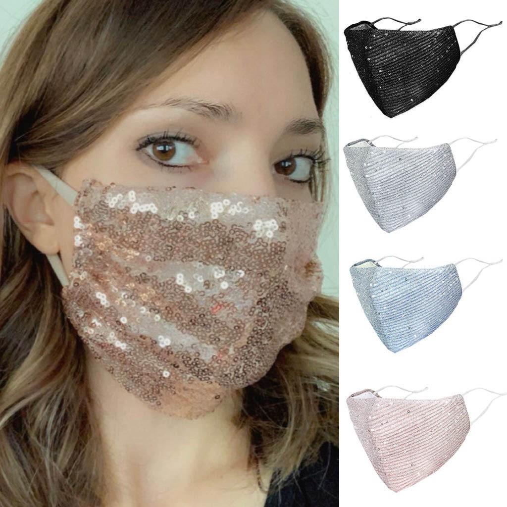 Аманда Новый Открытый Рот Маска мытье повторного использования маски для лица блестки защита маска – купить по низким ценам в интернет-магазине Joom
