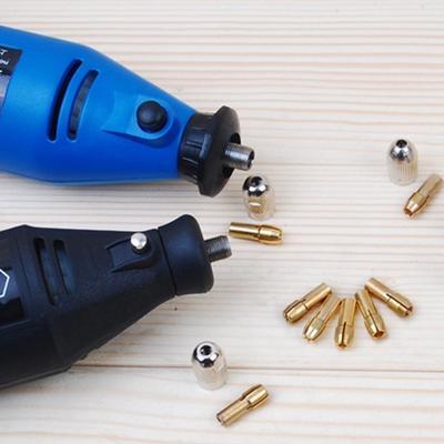 10Pcs Drill Chucks Collet Bits Brass 0.5-3.2mm 4.8mm Shank fr Rotary Tool