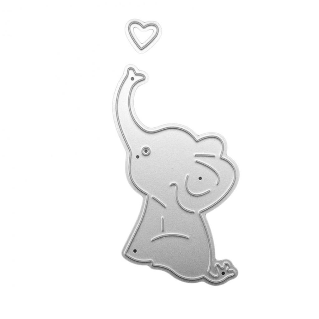 Cute Cartoon Elephant Cutting Stencils Carbon Steel Cutting Stencils DIY Scrapbooking Paper Cards