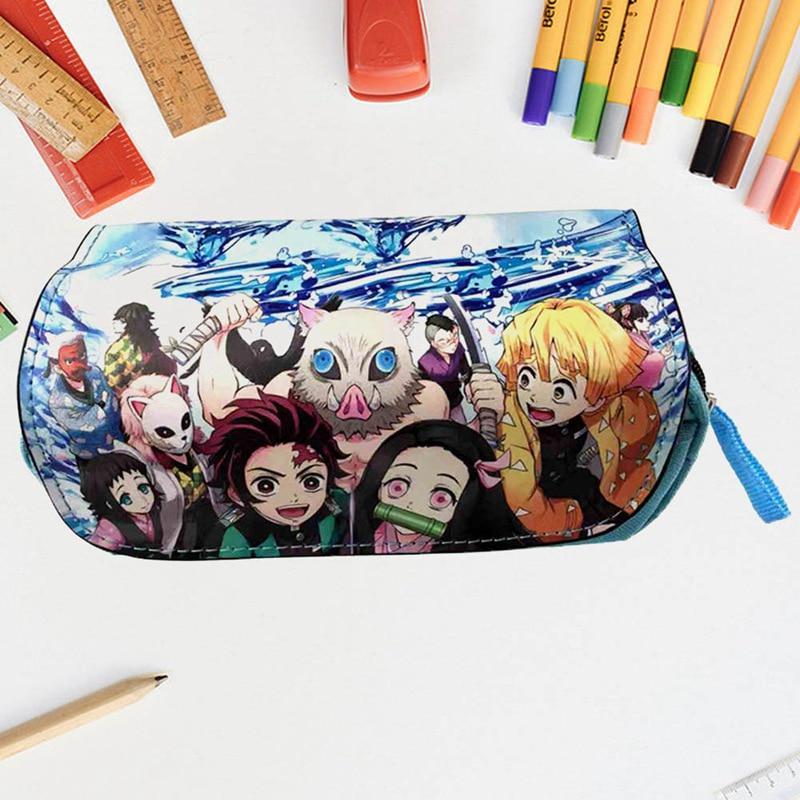 DemonSlayer Anime Big Backpack Insulated Lunch Box Shoulder Bag Pencil Case Lot