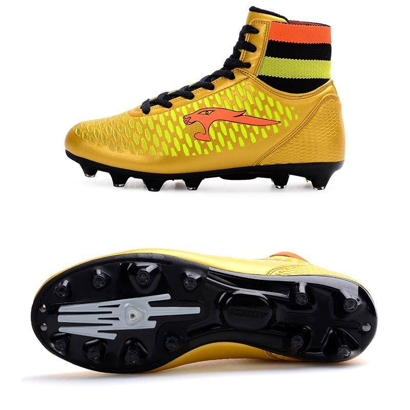 884a83c53ed67 High Ankle Mens Kinds Football Shoes Long Spikes Training Soccer Boots High  Top Soccer Cleats-buy at a low prices on Joom e-commerce platform