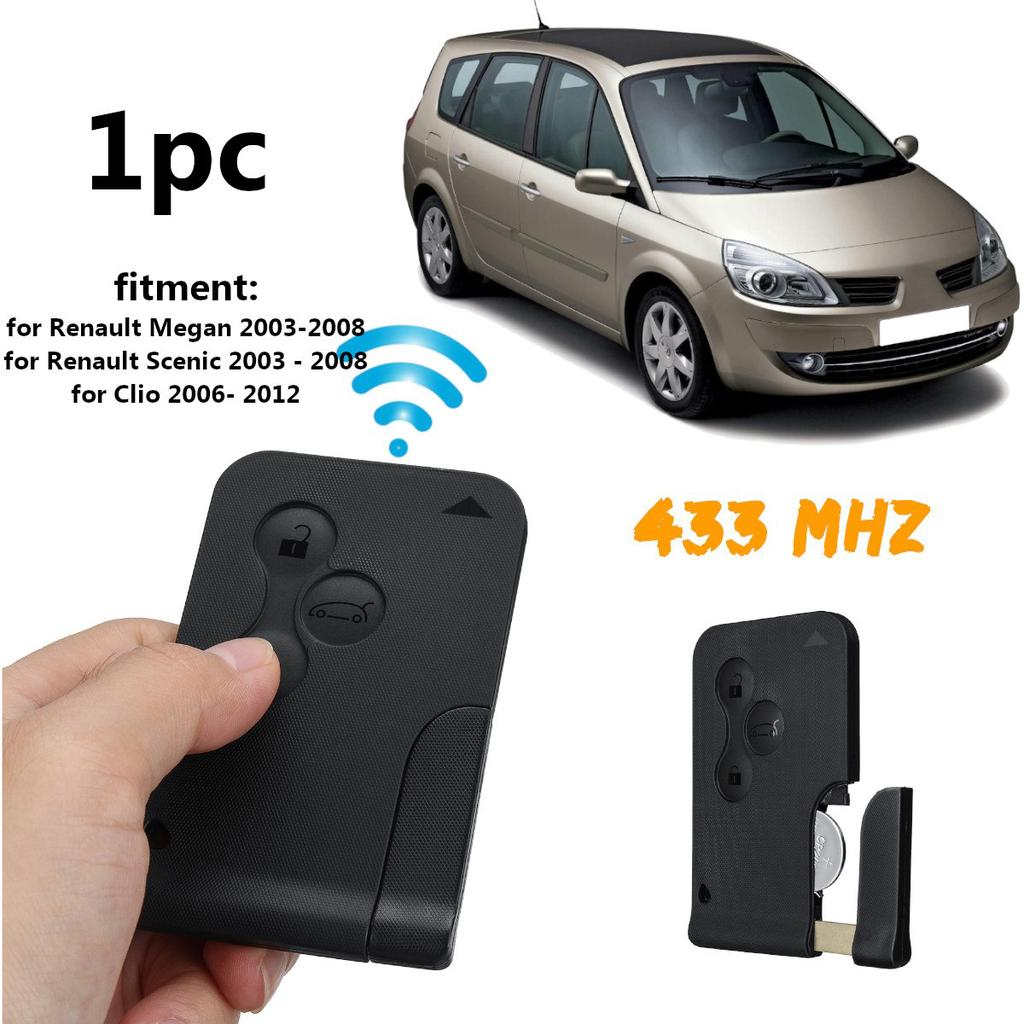 Replacement 3 button key card case for Renault Megane mk2 Scenic remote fob