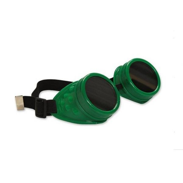 a85cae206a Vintage rustic cyber goggles steampunk welding goth cosplay photo props  green