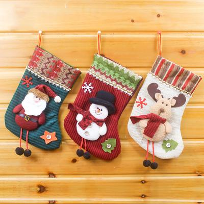1 Pc Christmas Gifts Candy Beads Christmas Santa Claus Snowman Socks Decorations