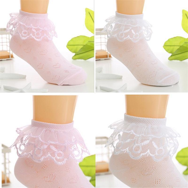 Toddler baby girls princess bowknot sock kids lace ruffle ankle socks lovely /_sl