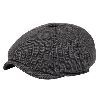 Men's Beret Cap Retro Style Flat Hat Cotton Fashion Newsboy Hats