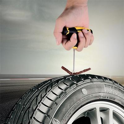 11Pcs Urgence Voiture Van roue Tubeless Pneu Crevaison De Pneu Kit De Réparation Outil Bandes