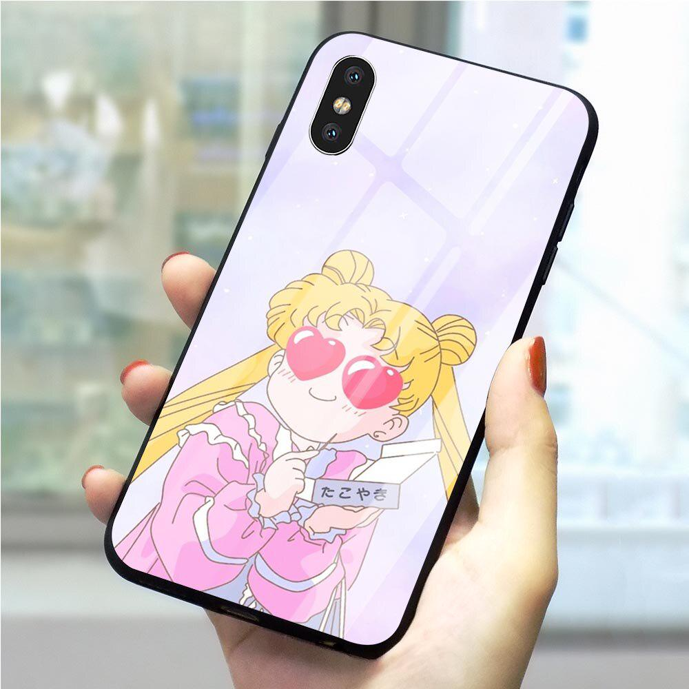 Sailor Moon Tempered Glass Phone Case for Huawei Y9 2019 Cover iPhone Xiaomi Samsung-buy at a low prices on Joom e-commerce platform
