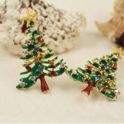 Fashion Household Rhinestone Crystal Brooch Enamel Gorgeous