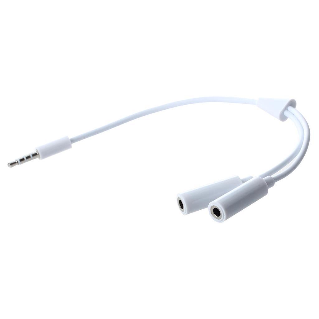 3,5 mm Audio-Kabel Splitter Adapterkabel - weiß – zu den niedrigen ...