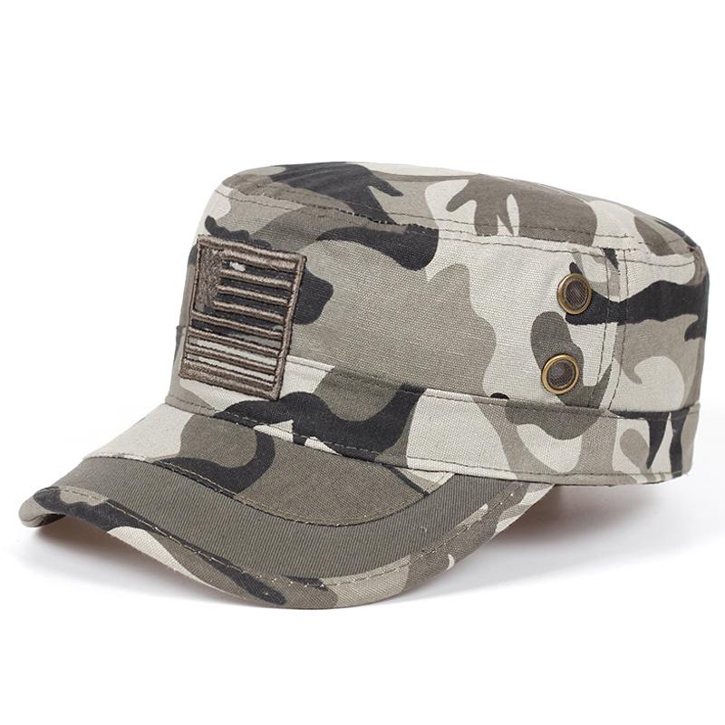 Army Flat Military baseball cap mesh cap faux leather Camouflage snapback HAT