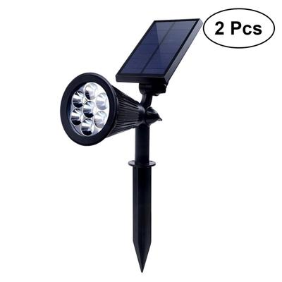 Solar Powered 4LED Spike Light Garden Yard Lawn Landscape Lamp Outdoor Spotlight