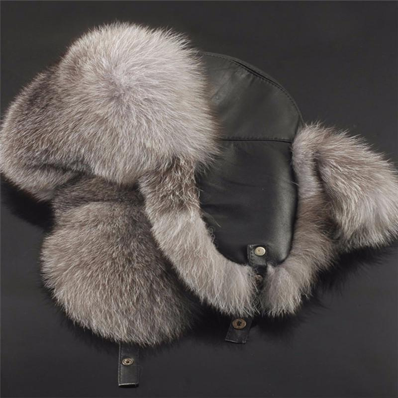Winter Warm Mens Faux Mink Fur Russian Cossack Furry Hat Thermal Vintage Outwear
