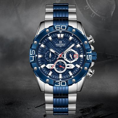 8019 Men Military Sport Wrist Watch Quartz Steel Waterproof Watches Multifunction Male Clock