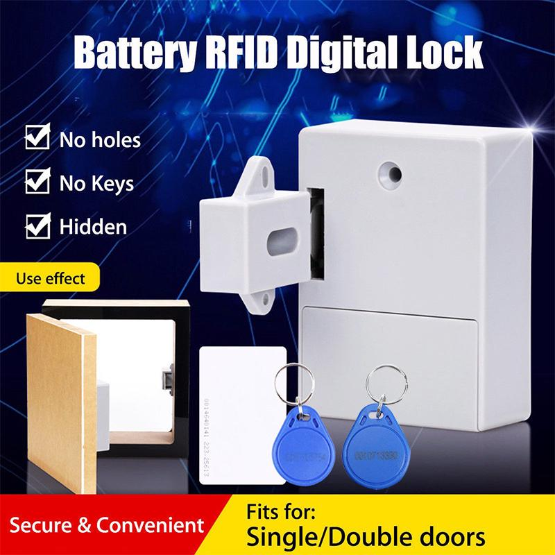 Battery RFID Cabinet Drawer Hidden Digital Lock DIY Without Perforate Hole UK
