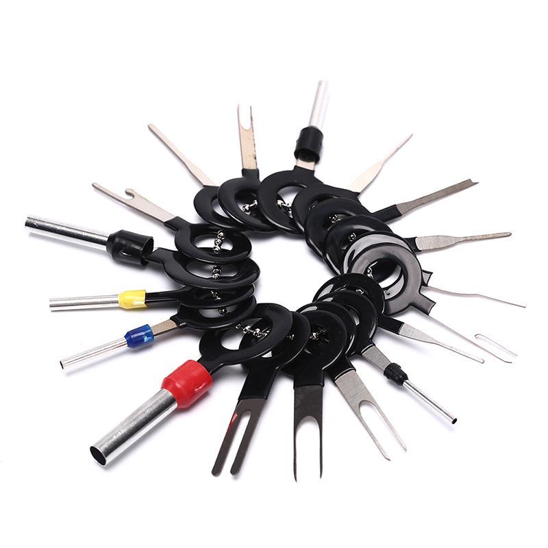 Voiture /Électrique C/âblage /à Sertir Connecteur Pin Extracteur Kit pour R/éparation de Voiture Wandefol 18 Pcs Auto Terminals Enl/èvement Outil Set