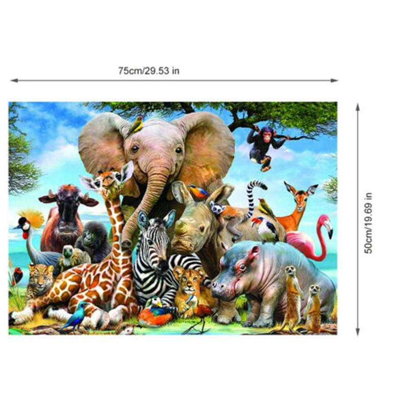 1000pcs Animal Lion Round Jigsaw Puzzle For Adult Kid Intelligence Challenge Hot
