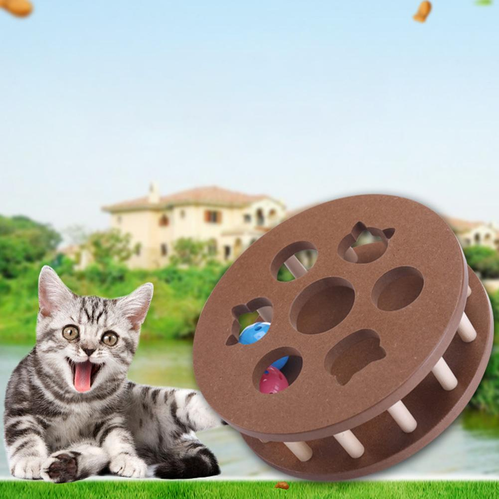 Pet Toy Cat Puzzle Play Disk Crazy Bump Ball Turntable