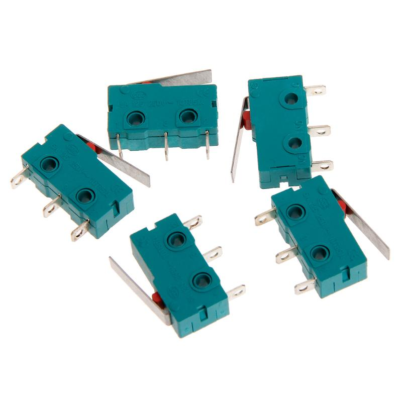 10PCS KW4-3Z-3 Micro Limit Switch SPDT NO NC 3 Terminals Lever Type Short Momentary Short Green