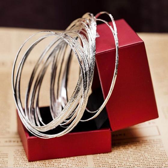 Новый 10шт/Set Женская мода травленная ямочками круг Браслеты Браслеты бижутерия подарок фото