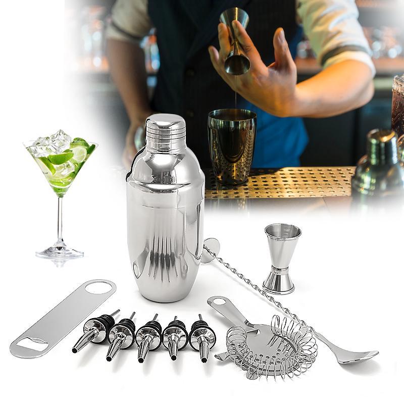 Coctelera de C/óctel,15 PCS cocktail shaker set en acero inoxidable Kit Cocktail para Vino,Boston,Bebida,Bar,Fiesta,Regalo de Familia