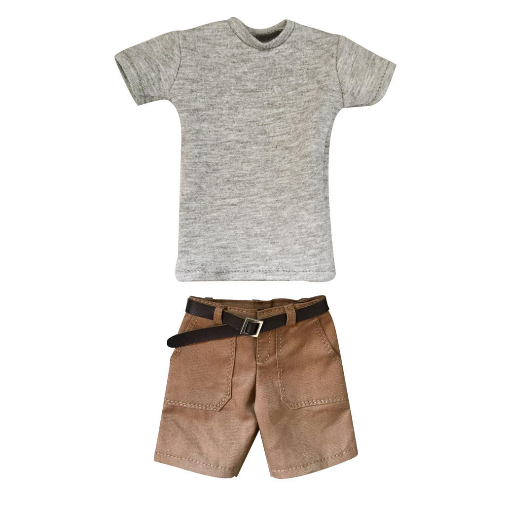 1//6 Men/'s Short Sleeve T-shirt /&Jeans Set for 12/'/' Male Action Figure Body