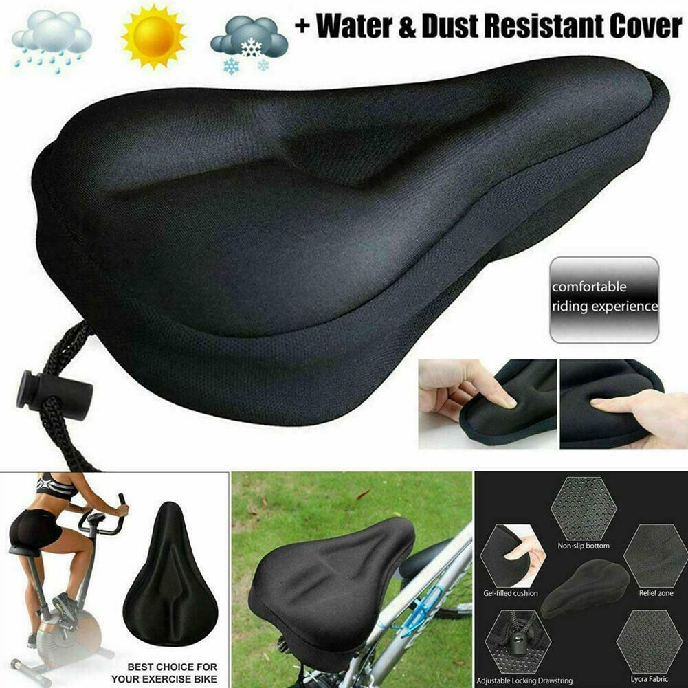 Bike Bicycle Cushion Seat Cover 3D Gel Saddle Pad Padded Soft Extra Comfort