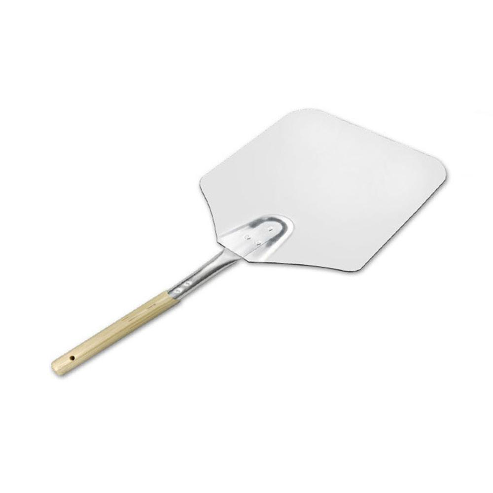 Pizza Shovel Stainless Steel Pizza Paddle with Wood Handle Non-Stick Transfer Shovel Baker Tools for Baking Homemade Pizza Bread Cakes Biscuits